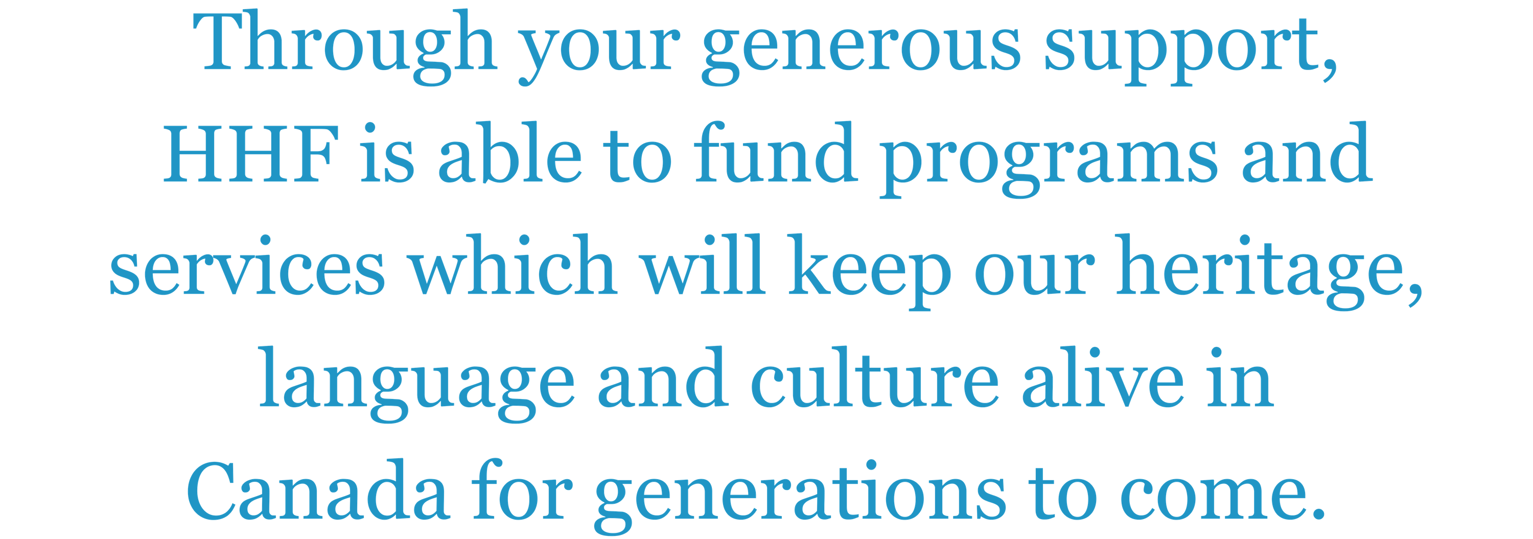 HHF donate text