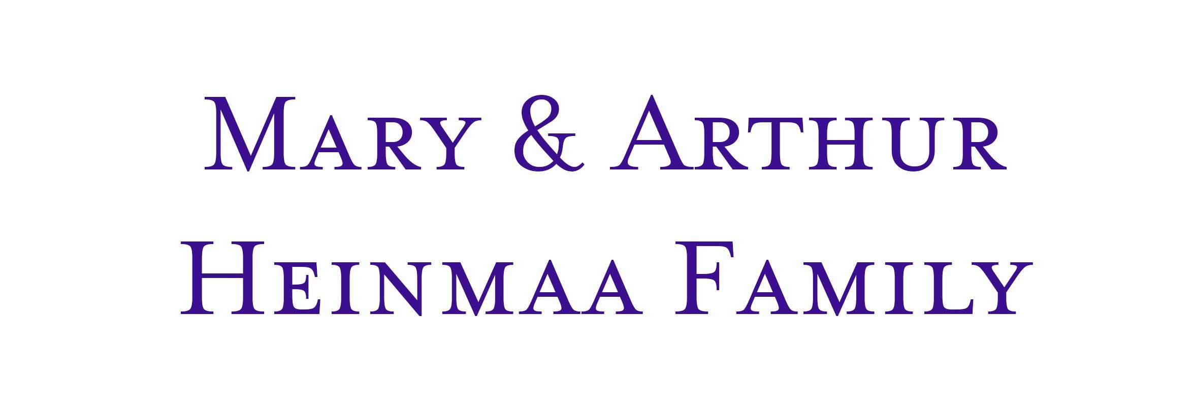 Mary & Arthur Heinmaa Family